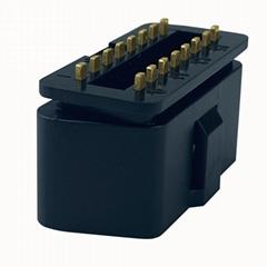 OBDii16PIN连接器公头诊断线接头J1962 汽车检测仪