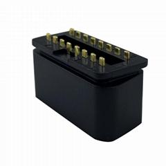OBD2 16 针 公头镀金转接头连接器OBD插头可定制