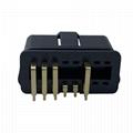 J1962 male 90 ° OBDII 10 pin plug for automobile fault diagnosis instrument