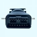 9針Deutsch接頭J1939內螺紋至OBDII OBD2內螺紋適配器 2