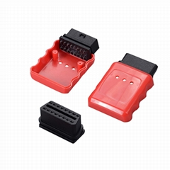 OBDII 90-degree reverse male head with red on-board diagnostic accessory