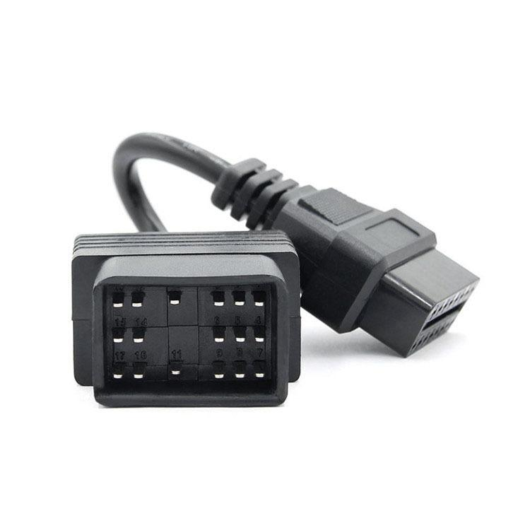 OBD2 16Pin Connector car transfer line is suitable for Japanese Toyota 17PIN old