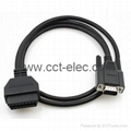 J1962  OBD-II 16P F TO DB 9P M CABLE