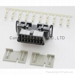 OBD2 16P 母座卡扣式汽车连接器