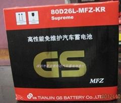 酷派汽车专用蓄电池统一电池GS80D26L