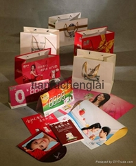 clothes company advertising paper bag