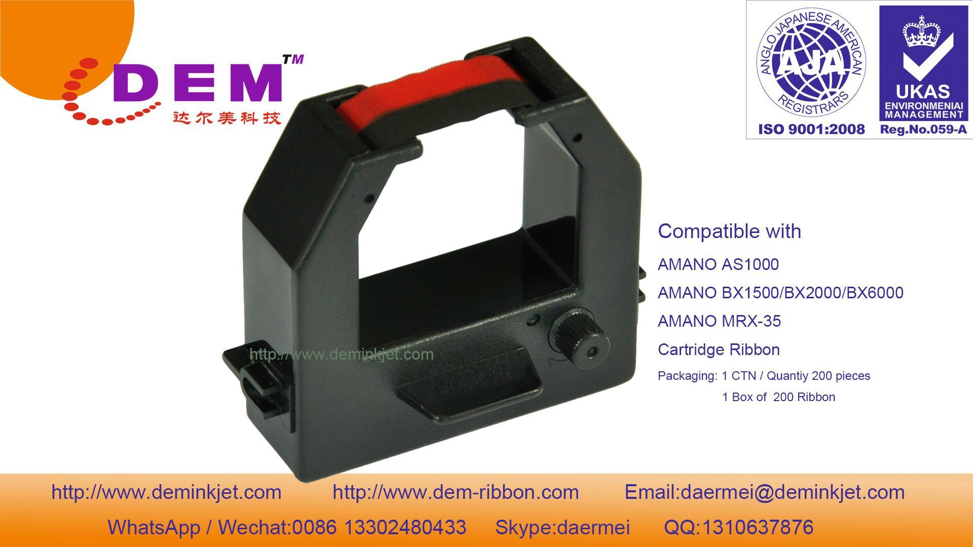 AMANO AS-1000/BX1500/BX2000 ribbon cartridge