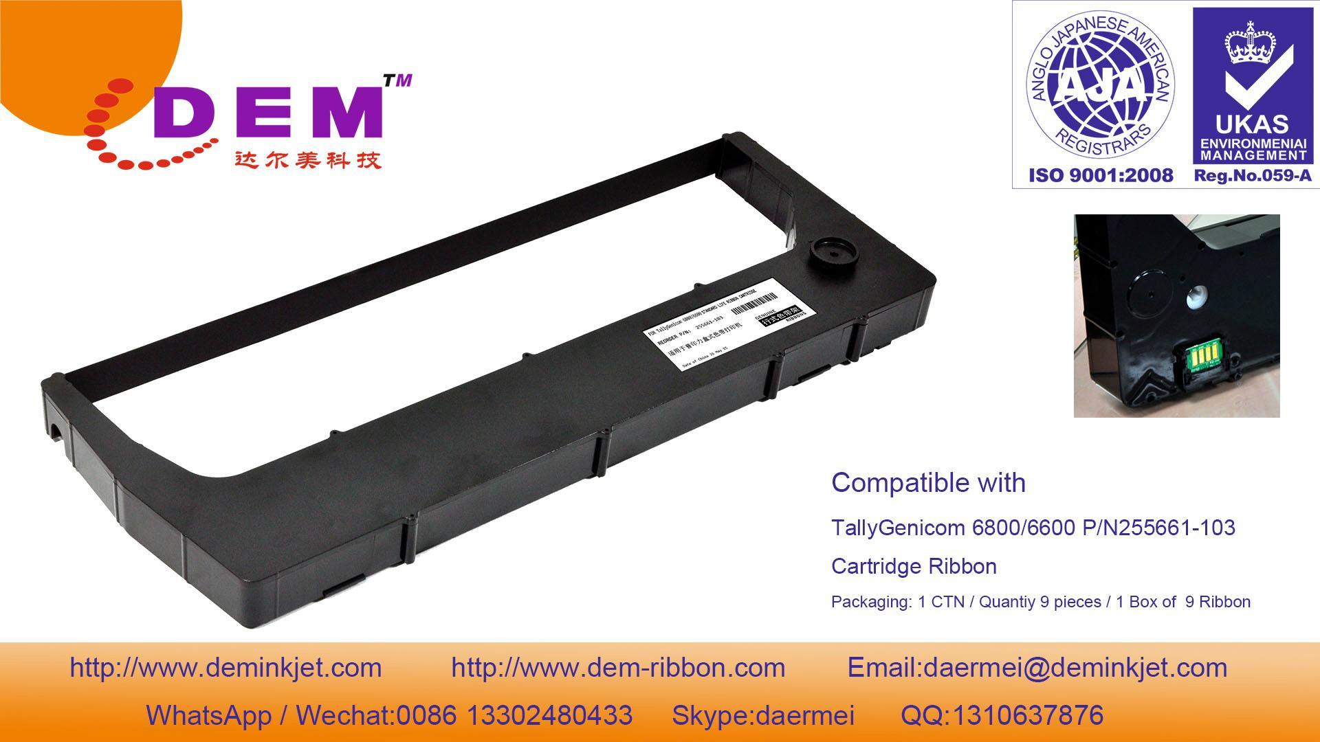 TallyGenicom 255661-103,255670-403 6800,6600 Cartridge ribbon