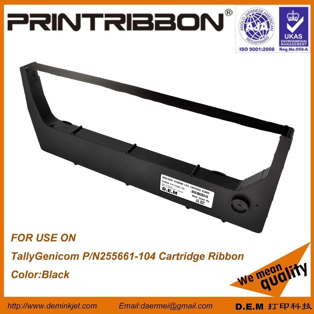 TallyGenicom 255661-104,TallyGenicom 6800,6600 Cartridge ribbon