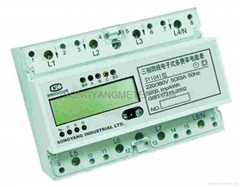 Three Phase Din-rail Multi-rate Energy Meter