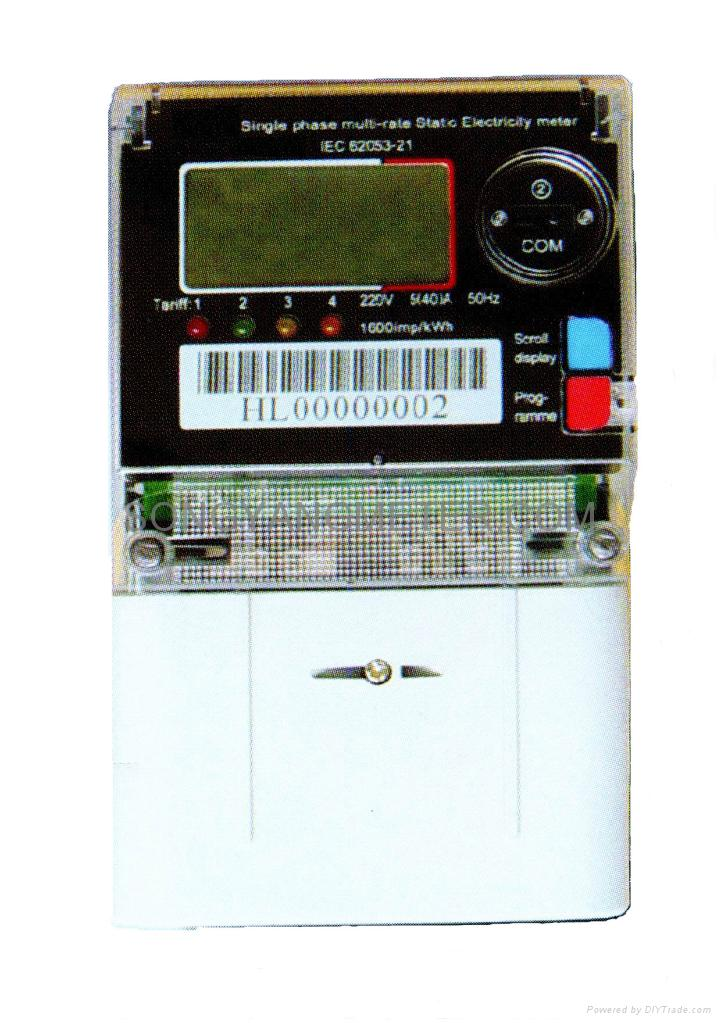 Single Phase Multi Rate Static Electricity Meter Hong Kong