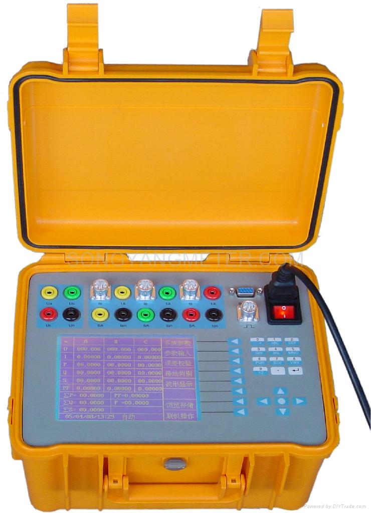 Kilowatt Usage Meter : Field testing instrument for three phase kilowatt hour