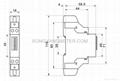 Single Phase DIN rail kWh Meter