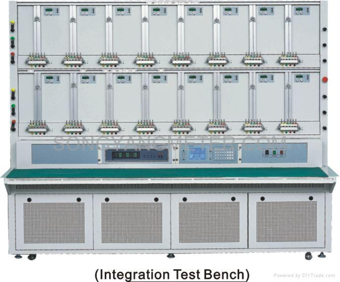 three phase close link energy meter test bench