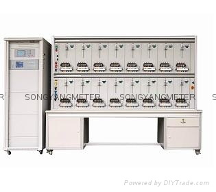 16 positions three phase energy meter test bench