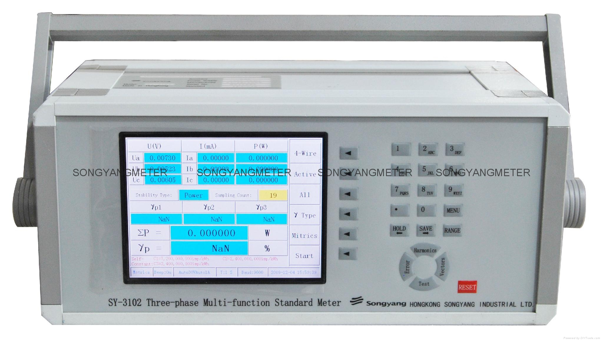 Three Phase High Precision Standard Reference Energy Meter