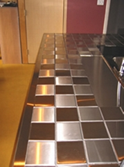 Steel Wall Tile-Kitchen Countertop