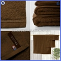 100% Cotton plain solid towel with OEM