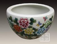 供应手工微雕陶瓷大缸 5