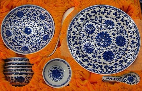 青花玲珑陶瓷餐具  5