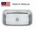 3118 CUPC stainless steel single kitchen sink