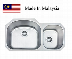 3218A  CUPC stainless steel kitchen sink Made In Malaysia