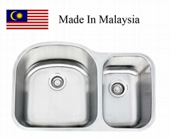3121L (70/30) CUPC Malaysaia stainless steel kitchen sink
