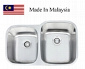 3221R  CUPC stainless steel kitchen sink Made In Malaysia