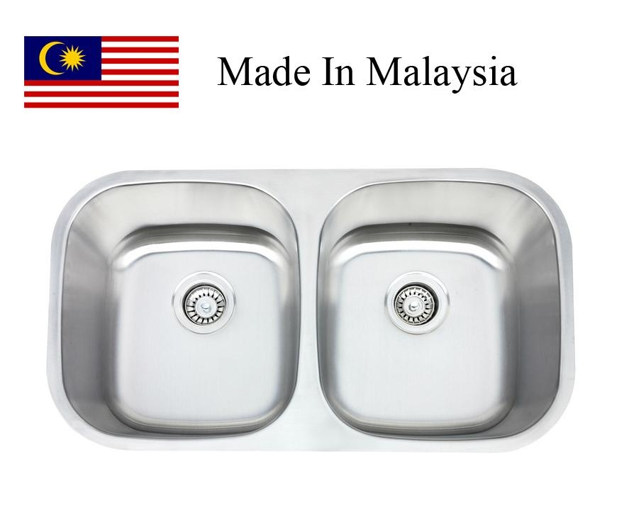 3218 (50/50) CUPC stainless steel kitchen sink Made In Malaysia -