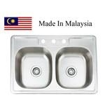 3322 CUPC stainless steel kitchen sink Made In Malaysia
