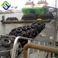 Pneumatic floating rubber fender