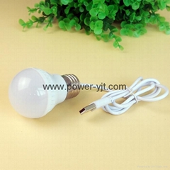 Portable usb led light  3W usb LED light  with cable for camp
