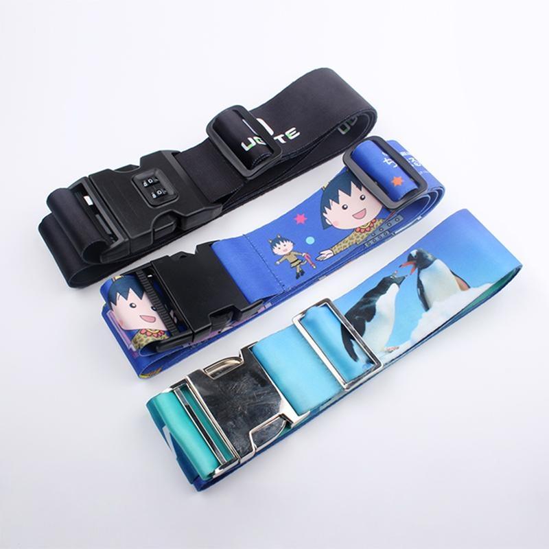 2017 free sample custom polyester luggage belt with lock 3