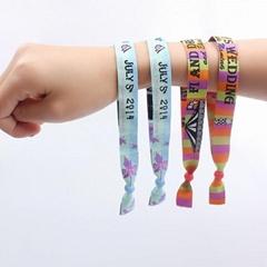 2018 hot sale one use custom fabric festival wristband