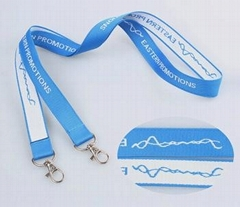 Professional polyester woven lanyard for sample free