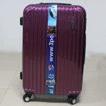 2017 free sample custom polyester luggage belt with lock 1