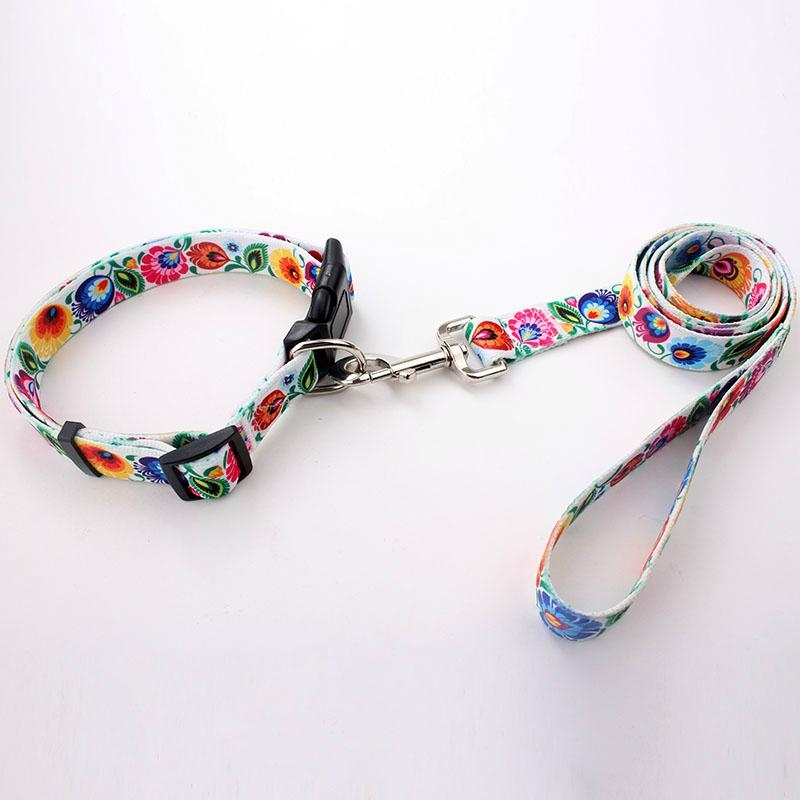 New arrival wholesale custom heat transfer printed polyester dog collar 5