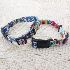 New arrival wholesale custom heat transfer printed polyester dog collar