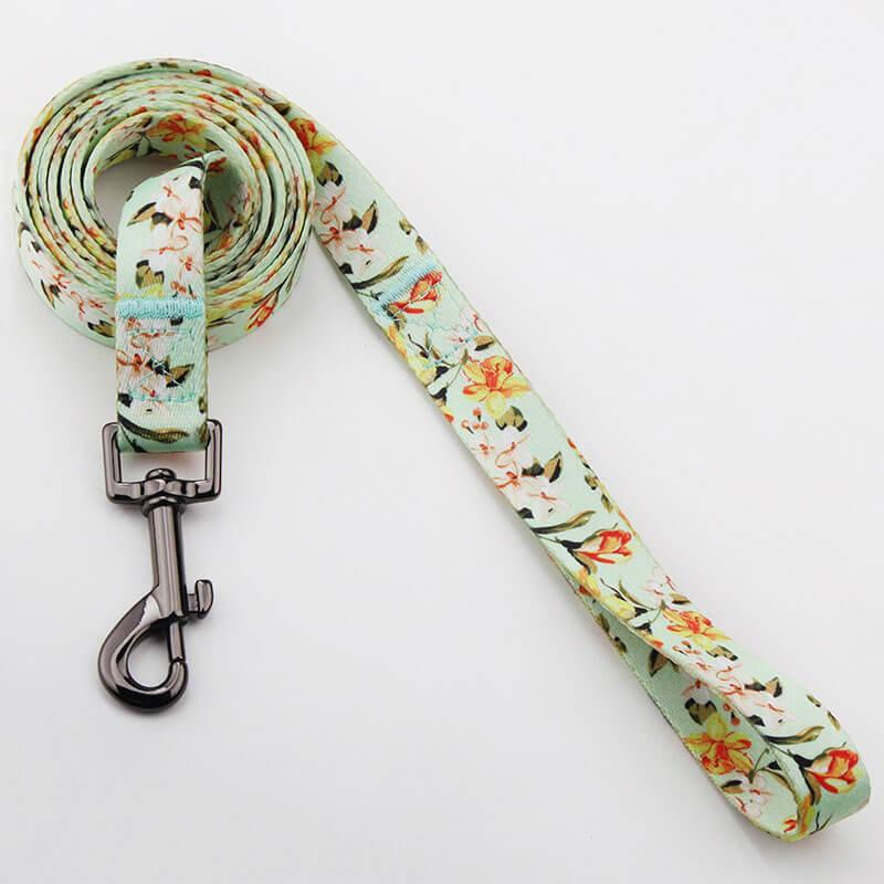 2018 personalized custom dog collar and leash with heat transfer printed 3