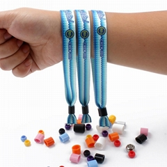 Woven fabric wristband for festival