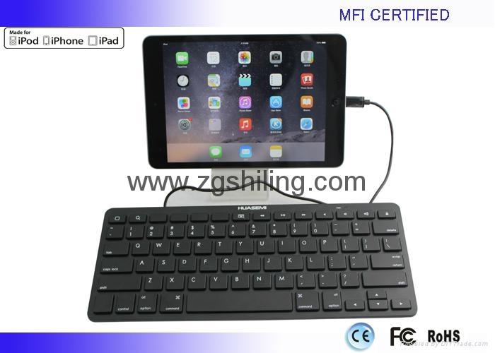 新款苹果 MFI认证iPad有线键盘8Pin Lightning接头 2