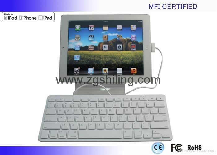 新款苹果 MFI认证iPad有线键盘8Pin Lightning接头 3