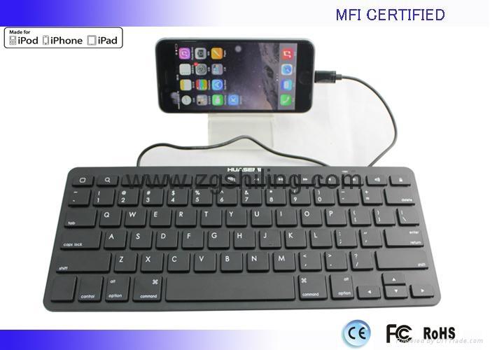 新款苹果 MFI认证iPad有线键盘8Pin Lightning接头 4