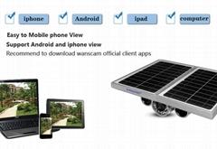 WANSCAM HW0029 Wireless P2P AP Built-in Battery Solar Power CCTV Wifi IP Camera