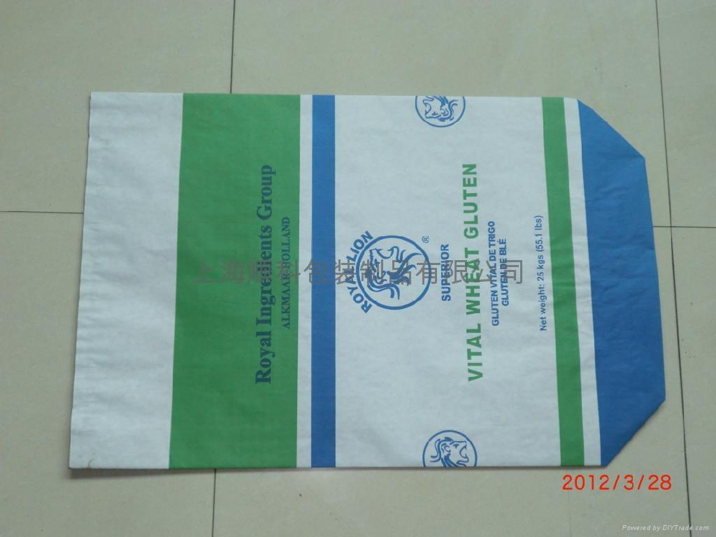 淀粉专用白色阀口牛皮纸包装袋 5