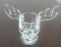 glass moose mug