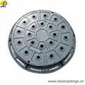 En124 B125 Round Cast Iron Manhole Cover