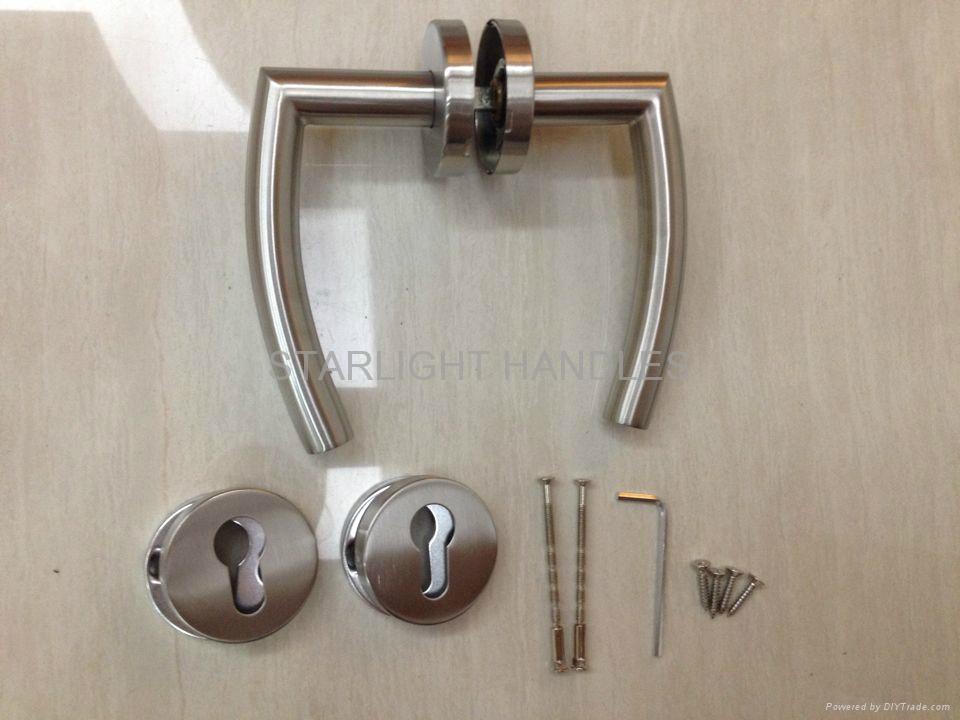 Door locks,solid level handle,door handle 5