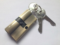 Anti drill solid security brass door cylinder