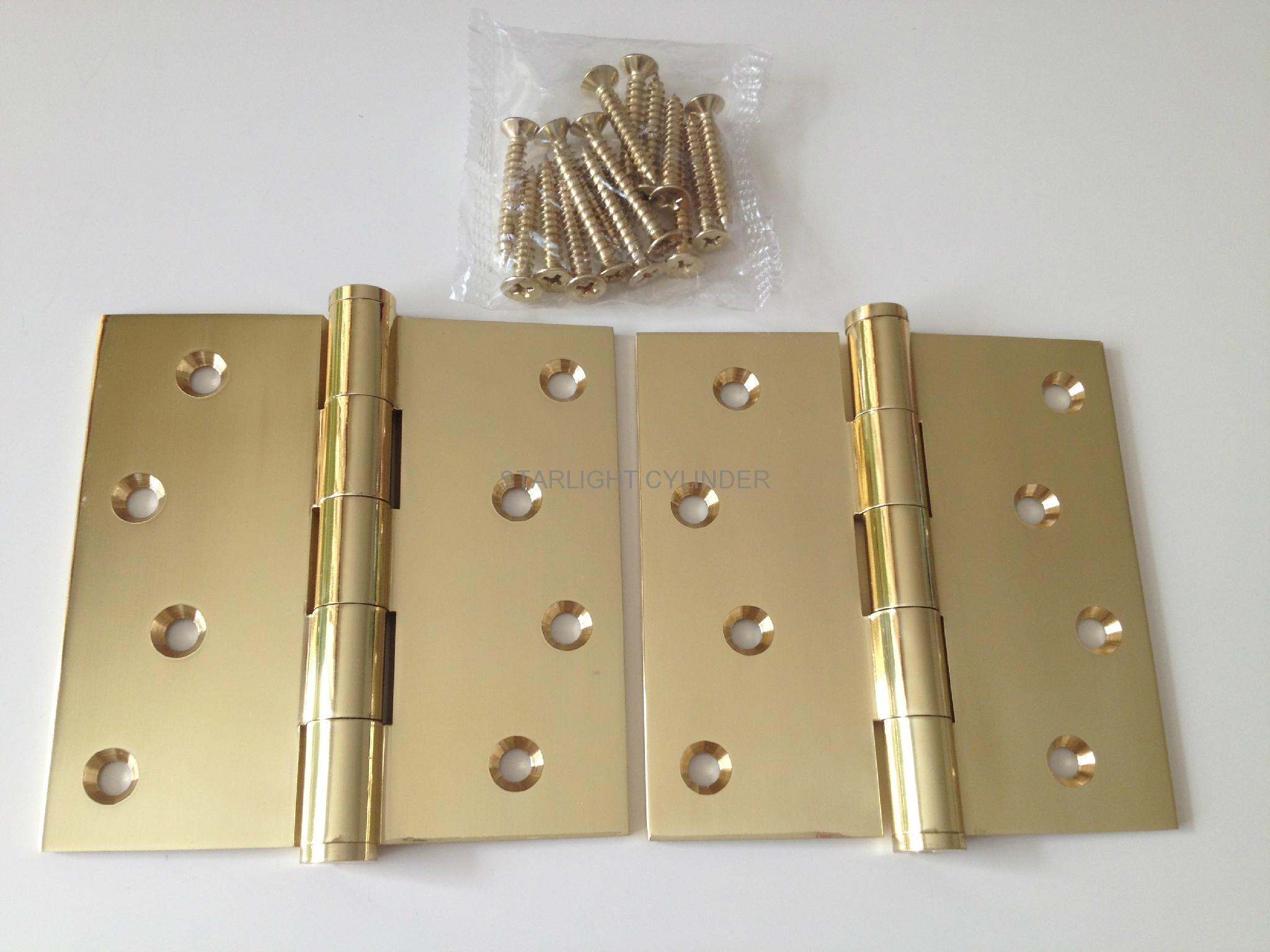 Commercial Interior Door Polish Brass Door Hinge Bdh001
